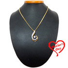 Thought-Thrilling Fairness Gold Plated Necklace with Teresa Pendant to Varanasi