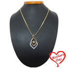 Mystique Moon Gold Plated Necklace with Fernanda Pendant to Kolkata