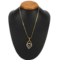 Breathtaking Fernanda Pendant with Flame Gold Color Necklace to Badgam