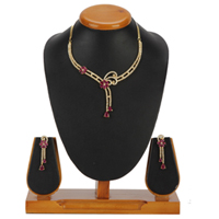 Absolute Splendor Necklace with Earrings Set to Chandigarh