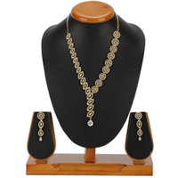 Profuse Enchantment Necklace with Earrings Set to Varanasi