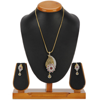 Excellent Pendent and Earrings Set to Belgaum
