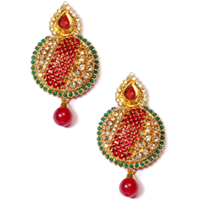 Amazing Stone Studded Earring Set to Chavara