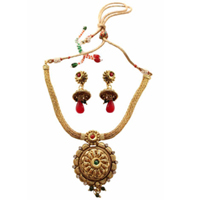 Exquisite Present of Golden Necklace Set to Solapur