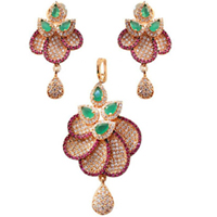 Extravagant Necklace Set Wedding Gift to Aluva