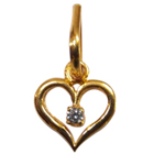 22K Heart Shaped Pendant with American Diamond Anjali to Udaipur