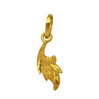 Harmonious Conjure (22K) Leaf Shaped Pendant from Anjali to Udaipur