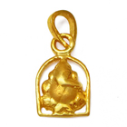 Minimalist Ganesha Styled Pendant (22K) from the House of Anjali to Udaipur