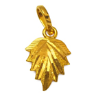 Luxurious Leaf Shaped Pendant from the House of Anjali (22K) to Udaipur