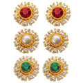 Attractive 3 Pcs Interchangeable Earrings set from Avon to India