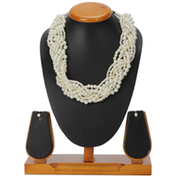 Sizzling Pearl Plaited Set of Necklace and Earrings Brought to You by Avon to Solapur