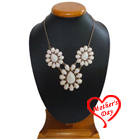 Bejeweled Floral Clustered Necklace from Avon to Agra