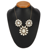 Bejeweled Floral Clustered Necklace from Avon to Ambur