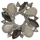 Marvelous Avon Opal Rhinestone Brooch Cum Pendant to Anand