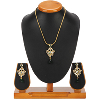 Ravishing Nistha Kundan Pendant and Earrings Set from Avon<br> to Chandigarh
