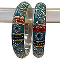 Fashionable Crafted Designer Bangle Set to Bangalore