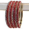 Charming Ruby And Bronze Designer Bangle Set to Taran Taran