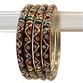 Admirable Ethnic Crafted Rajasthani Bangle Set to India