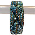 Soothing Blue And Rust Crystal Studded Designer Bangle Set to Taran Taran