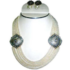 Beautiful Pearl Beaded Necklace to Aluva
