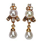 Classical Pearl Earrings to Varanasi