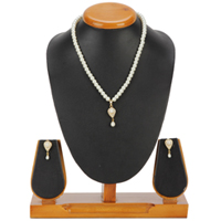 Designer Pearl Set with Necklace & Earrings to Ambur