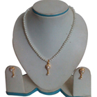 Enticing Teardrop Fashion Pearl Necklace Set to Ambur