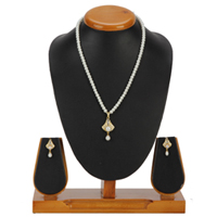 Pretty Bell Shaped Necklace Set designed with Pearls to Ambur