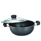 Exclusive Omega Select Plus Flat Base Kadai with SS Lid made by Prestige to Areraj