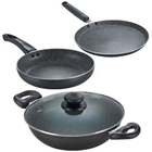 Award-Winning Omega Deluxe Granite Non-Stick Cookware Set from Prestige to Areraj