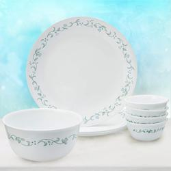Alluring Corelle Country Cottage Glass Dinner Set to Adugodi