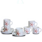 6 pcs LaOpala Tea Cup Saucer Set to Baga