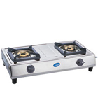 GLEN two burner stainless steel cooktop to Barasat