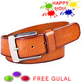 Camel Colored Leather Belt from Fastrack to Gurgaon