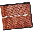 Classy Looking Genuine Leather Brown Colored Gents Leather Wallet with Black Border from Leather Talks to Trivandrum