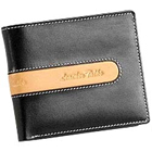 Suave and Formal Looking Genuine Leather Men's Wallet in Black and Brown from Leather Talks to Amlapuram