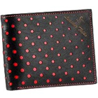Classically crafted Black Genuine Leather Wallet with Red Circles from Leather Talks to Amravati