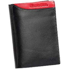 Genuine Leather Black Leather Wallet from Leather Talks for Men with Red Leather Style Patch to Nashik