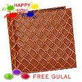 Light Brown Shaded Genuine Leather Mens Wallet from Leather Talk with free Gulal/Abir Pouch to Gurgaon