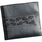 Flower Imprinted Black Genuine Leather Gents Wallet from Leather Talks to Ahmedabad