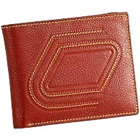 Stylish Zig Zag Designed Genuine Leather Brown Gents Leather Talks Wallet to Amlapuram