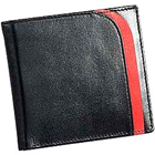 Red Patchworked Leather Talks Genuine Leather Mens Wallet in Black to Cochin