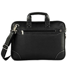 Faux Leather Office Folio cum Leather Bag from Vaunt in Black to Bellary