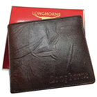 Showy Gents Leather Wallet from Longhorn in Black to Udaipur