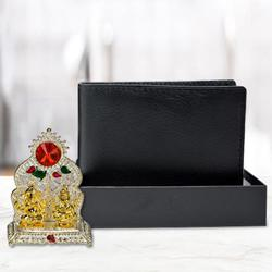 Antique Ganesh Laxmi Mandap with a Black Wallet for Gents to Allahabad