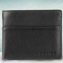 Amazing Mens Leather Wallet in Black from Police to Aizwal