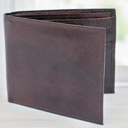 Lovely Dark Brown Mens Leather Wallet to Aalangulam