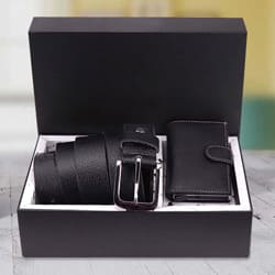 Stunning Hide and Skin Mens Leather Card Holder N Formal Belt to Aizwal