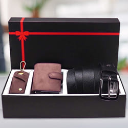 Exquisite Hide and Skin Mens Leather Middle Stitch Card Holder N Belt to Aalangulam