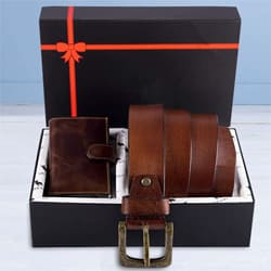 Amazing Hide and Skin Mens Leather Card Holder, Belt N KN95 Mask to Aalangulam